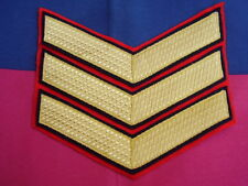 GRENADIER,COLDSTREAM,SCOTS,IRISH,WELSH GUARDS GOLD SGT's Tunic Rank Patch/Badge