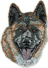 "1 7/8"" x 2 5/8"" Akita Dog Breed Portrait Embroidery Patch"