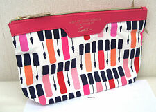 "Estee Lauder "" A Bit of Gloss Makes A Luscious Lip ""  Patterned Make Up Bag New"