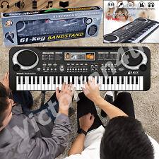 61 Keys Digital Electronic Electric Piano Music Keyboard Organ & Mini Microphone
