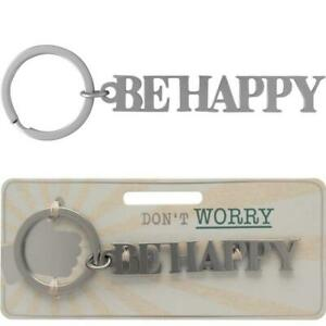 Schlüsselanhänger Be Happy Metall Schlüsselwort Anhänger sheepworld Geschenk