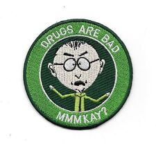 """South Park TV Series Mr. Mackey Drugs Are Bad 3"""" Premium Quality Patch"""