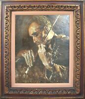 Framed & Signed Original Oil – THE CONCERTMASTER – by Siter, Circa 1950's