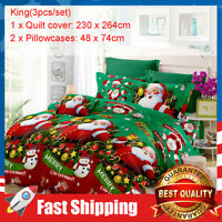 3 pcs Kind Size Christmas Bedding Duvet Cover Set & Pillow Cover for Home Decor