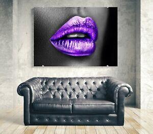 Wandbild Purple Lips Edel Matt 55x50 cm Bilder auf Alu Bild Wohnzimmer