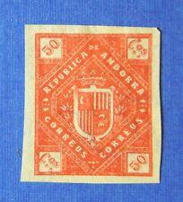 1875 ANDORRA SPANISH 50C UNISSUED STAMP SCOTT# - MICHEL #- UNUSED IMPERF CS25523