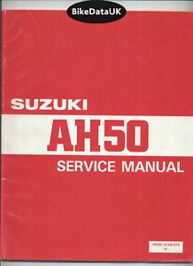 Suzuki AH50 Address (93-96) Genuine Factory Shop Manual Repair Book AH 50 BG54