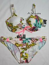 NEW NEXT UK 16 AND 36C/D LADIES BUTTERFLY UNDERWIRED BIKINI SET SWIMWEAR