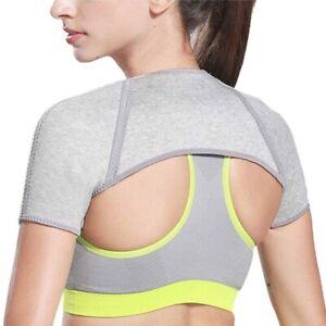 Breathable Double Shoulder Support Brace Strap Wrap Arthritis Compression Sport