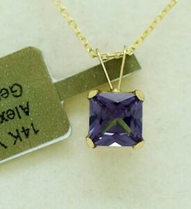 ALEXANDRITE 1.20 Cts PENDANT 14k Yellow Gold * NEW WITH TAG * Made in USA