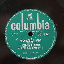 78rpm JOHNNY DUNCAN & BLUE GRASS BOYS rock-a-billy baby / last train to fernando