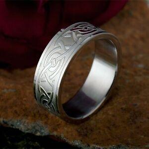 Blickfang! Edelstahl Stahl Ring mit Tribal Kelten Knoten Partnerring Herren neu