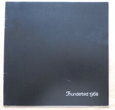 FORD THUNDERBIRD ORIG 1968 USA MKT grand format brochure catalogue de vente de prestige