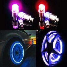 4Stk Auto LED Neon Rad Licht Wheels Ventilkappen Bike Car Tyre Light Rainbow