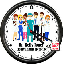 Personalized Doctor Family Practice Medicine MD Obstretic Gift Sign Wall Clock