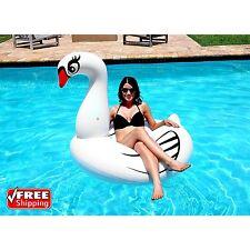 Giant 4Ft Inflatable White Swan Pool Ring Float Swim Tube Fun Party Toy Kid