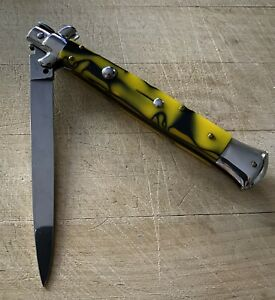 VINTAGE  FOLDING ITALIAN INOX STILETTO POCKET KNIFE KNIVES 🔪 Gorgeous