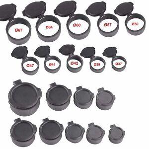 Klappbare Zielfernrohr Okularschutzkappe Schutzkappe Flip Up Open Deckel 37-67mm