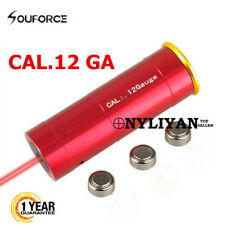 For Hunting 12GA Red Laser Bore Sight 12 Gauge Cartridge Boresighter Rifle New