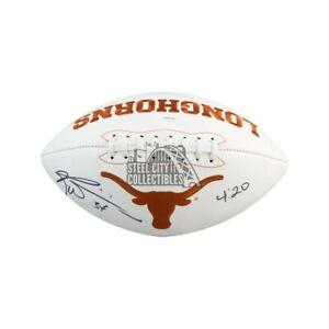 Ricky Williams 4:20 Autographed Texas Longhorns Black Football - JSA COA