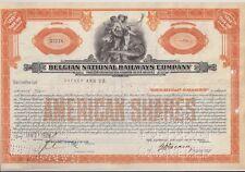 BELGIAN NATIONAL RAILWAYS COMPANY........1929 AMERICAN SHARE CERTIFICATE