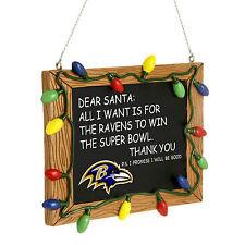 Baltimore Ravens de árbol de Navidad Ornamento Pizarra-todo lo que quiero es un Superbowl