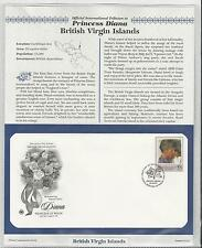 BRITISH VIRGIN ISLANDS PRINCESS DIANA MEMORIAL First Day Cover (7363)