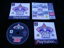 JEU Sony PLAYSTATION PS1 PS2 : INDY 500 (courses auto COMPLET SLES-00135)