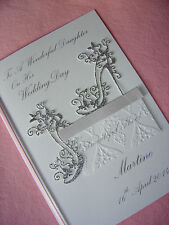 Personalised Congratulations Card For Daughter / Sister / Friend On Wedding Day