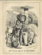 1854 How To Get Rid Of An Old Woman Lord Aberdeen Satire