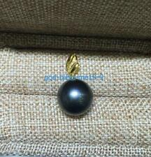 10-11mm black  natural  AAA tahitian round pearl necklace 925s