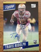 Travis Rudolph NY Giants 2017 Prestige Rookie Signatures Xtra FSU. Free Postage