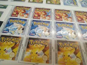 Pegatinas Cartuchos Pokémon Español Game Boy Color, sustitución pegatina juegos