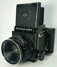 Mamiya rb67 Pro Medium Format camera w/Sekor 127 f3.8 & polaroid film back Japan