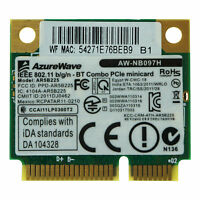 AR5B225 802.11abgn WiFi 300Mbps Bluetooth 4.0 Half Mini PCI-e Card For Laptop