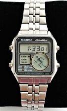 Rare 1981 Seiko D138-5030 Big Matrix Running Man digital watch 5 alarms -WORKS