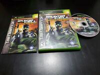 Tom Clancy's Splinter Cell: Pandora Tomorrow (Microsoft Xbox, 2004) W/ REG. CARD