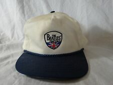 Vtg 80s The BEATLES TIME PIECE Embroidered Ball HAT by NISSIN Snap-back NOS