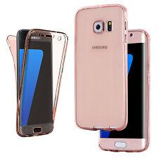 Cover Case Ultra Thin Slim 360 TPU Gel Skin Pouch for Samsung Galaxy S8 S6 Edge