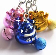 """Fengshui Japanese Lucky Bell Cute 1"""" Cats Keyring Keychain Key Ring Chain Gift"""