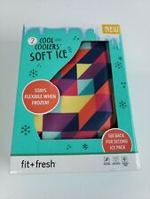 Fit & Fresh Soft Cool Coolers Ice Packs Pair Flexible Ice Packs