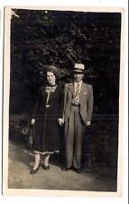 photo carte postale   beau couple  1939  (1016e)