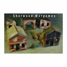 28mm Factory Sheds & Outbuildings, Unpainted Kit Scenery, WWII Bolt Action BNIB