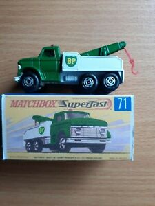 "MATCHBOX SUPERFAST MB-71 FORD HEAVY WRECK TOW TRUCK REPRODUCTION ""BP"" LABELS"