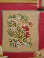 Janlynn Christmas Cross Stitch Kit Elf Adoring Santa NEW With Beads 8 x 10 in