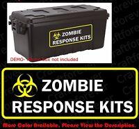 BIOHAZARD ZOMBIE OUTBREAK RESPONSE KITS Vinyl Decals/Sticker for Ammo Box  FY038