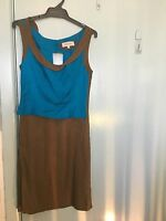 Veronica Maine brown and green dress in size 6
