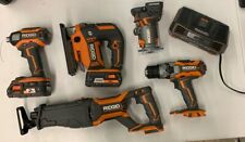 RIDGID 5 Tool Combo Kit+One 2.0 Ah, and One HP2.0 Battery, w/ Charger