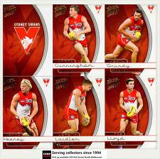 2015 Select AFL Honours Trading Cards Base Card Team Set Sydney (12)