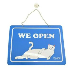 RipNDip OPEN/CLOSED SIGN KIT Blue Nermal RND01SIGN Retail Only Storefront Sign